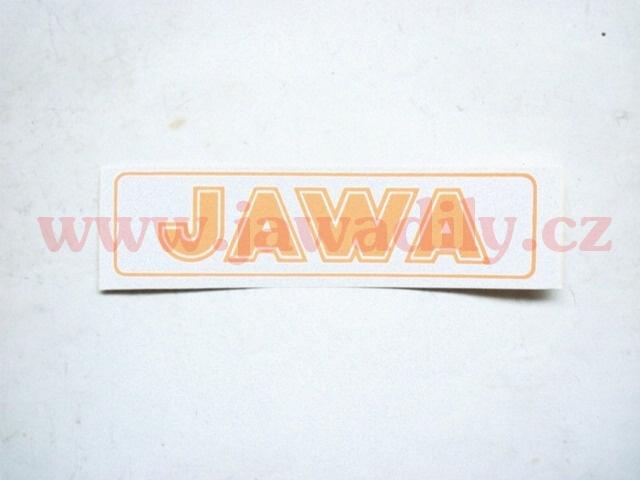Nápis JAWA - oranžová