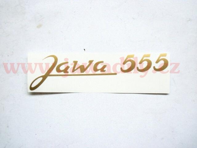 Nálepka zlatá - Jawa 555