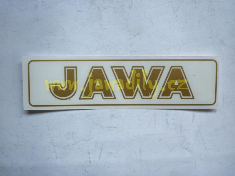 Nápis JAWA - zlatá
