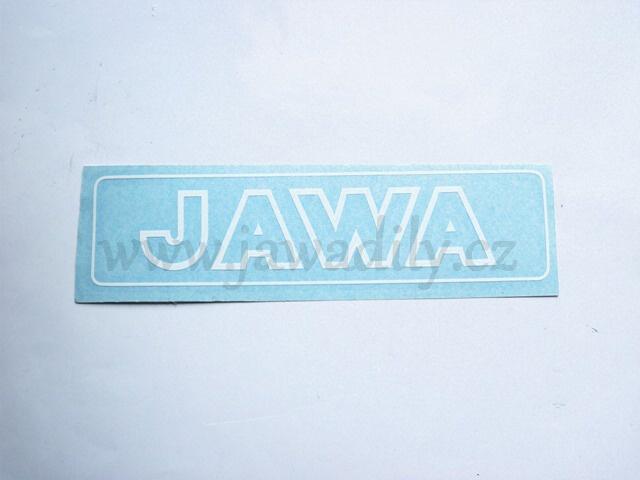 Nápis JAWA - bílá kontura