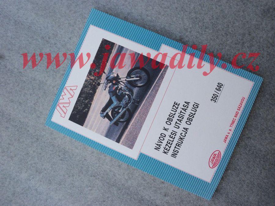 Návod k obsluze - Jawa 350/640