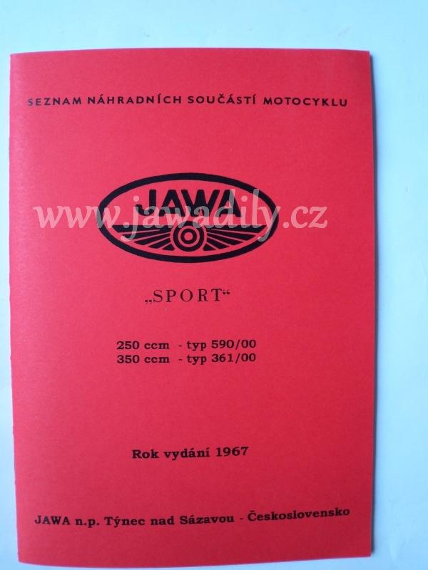 Katalog náhradních dílů - Jawa 250,350 Sport