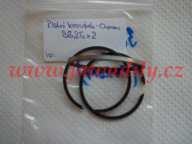 Pístní kroužek (chrom) 38,25 x 2mm - Pionýr, Simson