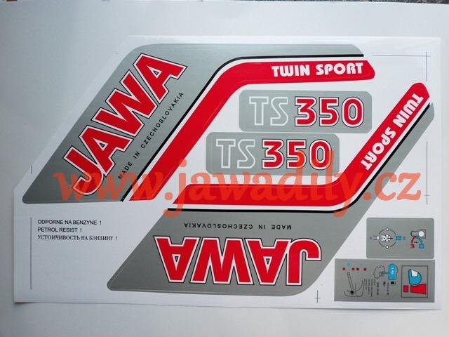 Sada samolepek Jawa 350