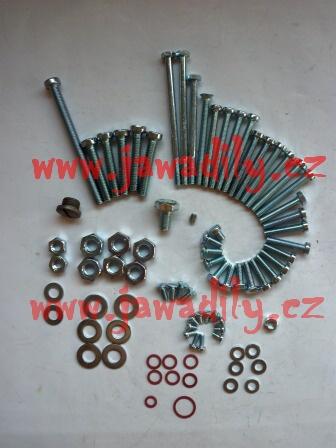 Šrouby motoru - Jawa 350/634, Bizon, ČZ 250,350 dvouválec