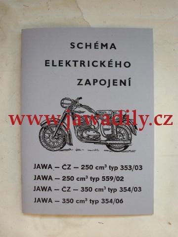 Schéma elektrického zapojení - Jawa ČZ - 250/350