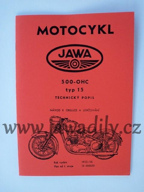 Návod k obsluze - Jawa 500-OHC typ 15