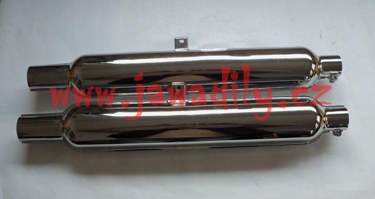 Tlumič výfuku kompletní - Sada - Jawa 500 OHC (02)