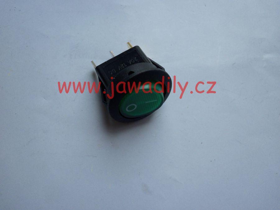 Kolébkový vypínač - zelený